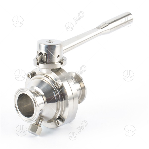 New Type Stainless Steel Sanitary Clamped Butterfly Ball Valve