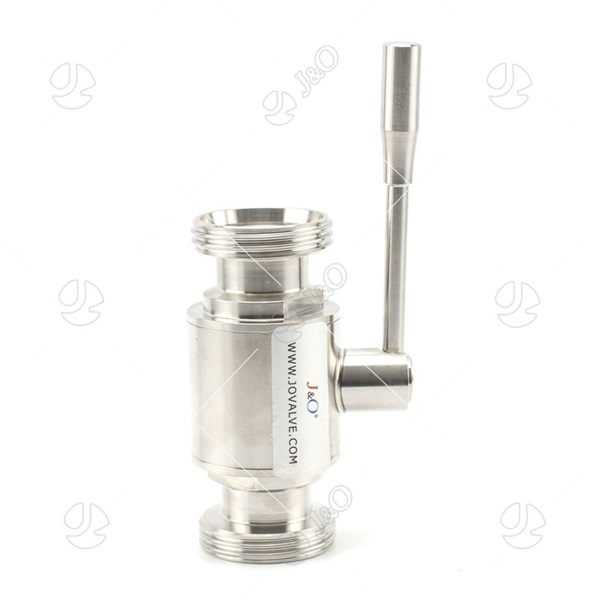 Sanitary Manual Male Thread Ball Valve With SS Handle