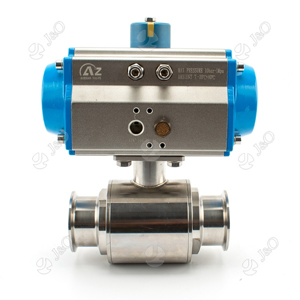 Sanitary Stainless Steel Pneumatic Direct Way Tri Clamp Clamped Ball Valve