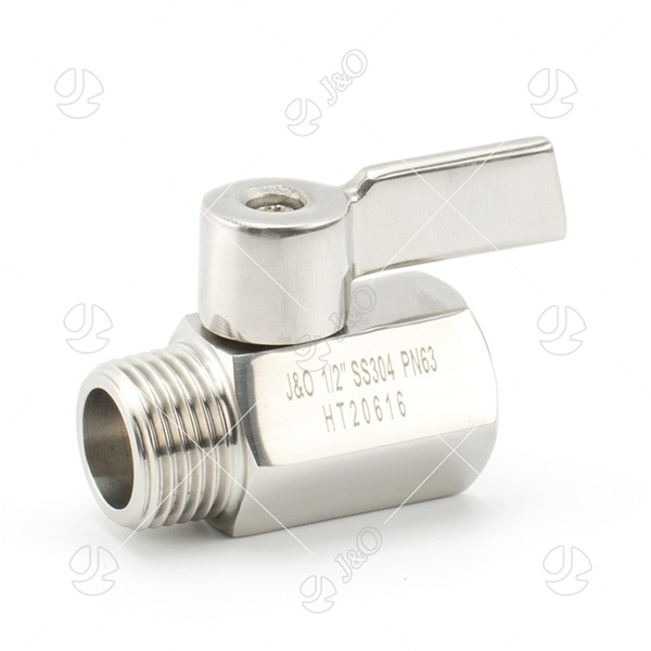 SS304 Stainless Steel Male Female Mini Ball Valve