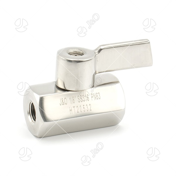 Stainless Steel Handle  Stainless Steel Female Mini Ball Valve